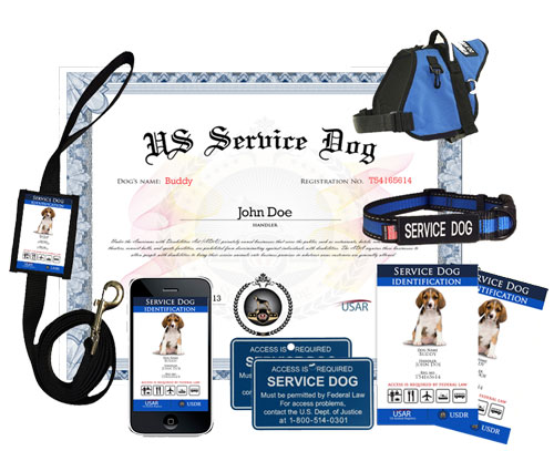 service dog deluxe kit » us dog registry